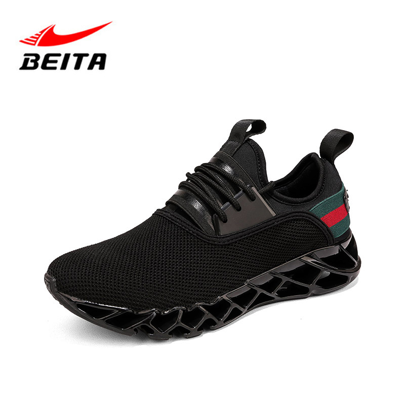 $31.34 Beita Men Running Shoes Bow-Blade Outdoor Sports Shoes for Men Cushioning Spring Blade Shoes Cool Breathable Male Sneakers