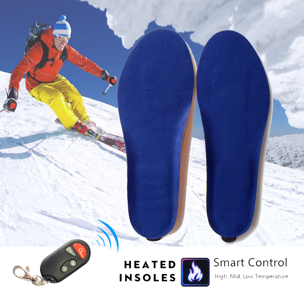 New Electric Heated Insoles Build-in Li-polymer Battery Thermal Winter Warm Heating Insoles Thickened Shoes Pad For Men Women new winter plush warm heated insoles remote control insole thermal thickened warm keeping shoes soles for men and women 2000mah