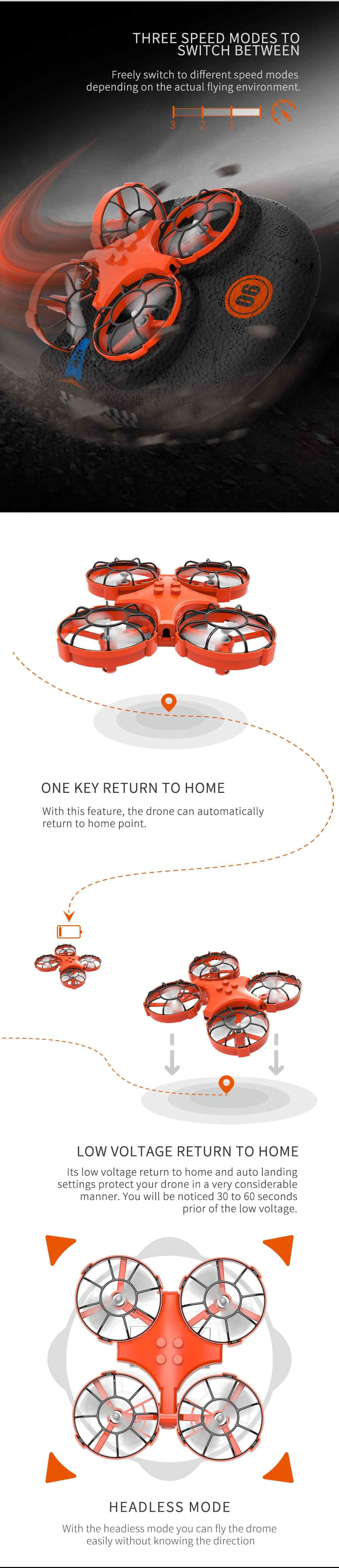 One Key Return Home Button for Easy of Flight