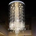 Lutres Candiles Grandes De Techo современный потолочный светильник Светодиодная хрустальная люстра Lamparas Cristal большая длинная фойе лампа