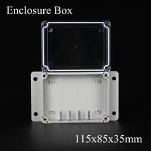 115*85*35 мм IP66 ABS Водонепроницаемый электронный корпус проект коробка Распределения переключатель junction outlet case Clear крышка