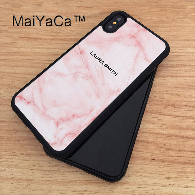 new product 3df0f 64be1 Aliexpress.com : Buy MaiYaCa Personalised Marble Name Gift Custom Unique  Case For iPhone X Soft TPU PC Back Case Coque Funda Cover for iphone X from  ...