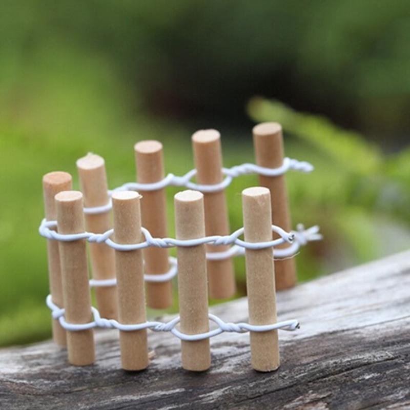 Rural Wood Fence Mini Fairy Garden Miniatures DIY Doll House/ Terrarium/  Bonsai/ Home/ Succulents/ Micro Landscape Decoration In Figurines U0026  Miniatures From ...