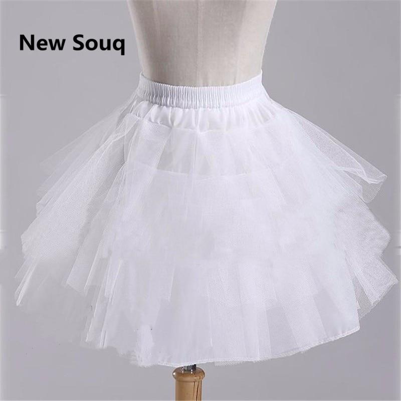 Kids Underskirt 2019 In Stock Children Petticoat 3 Layer Ballet Petticoat White Short Crinoline Flower Girl Dress Petticoat