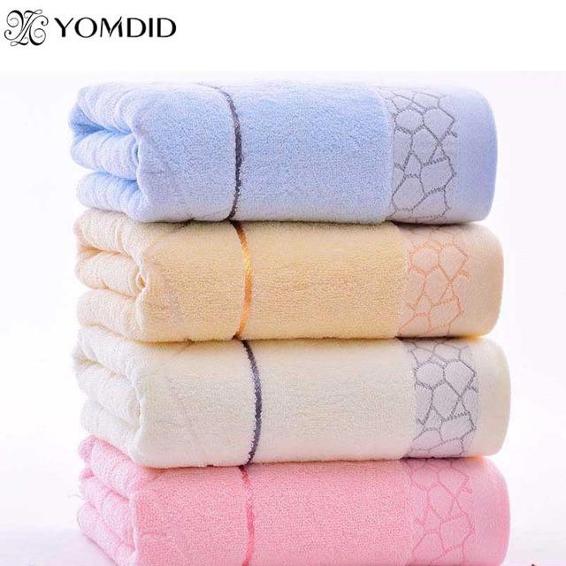 Hot bán 140x70 cm Khăn Tắm 100% Cotton khăn 6 Màu Sắc Sẵn Bông Sợi Tự Nhiên Thân Thiện Với Môi Thêu Tắm khăn