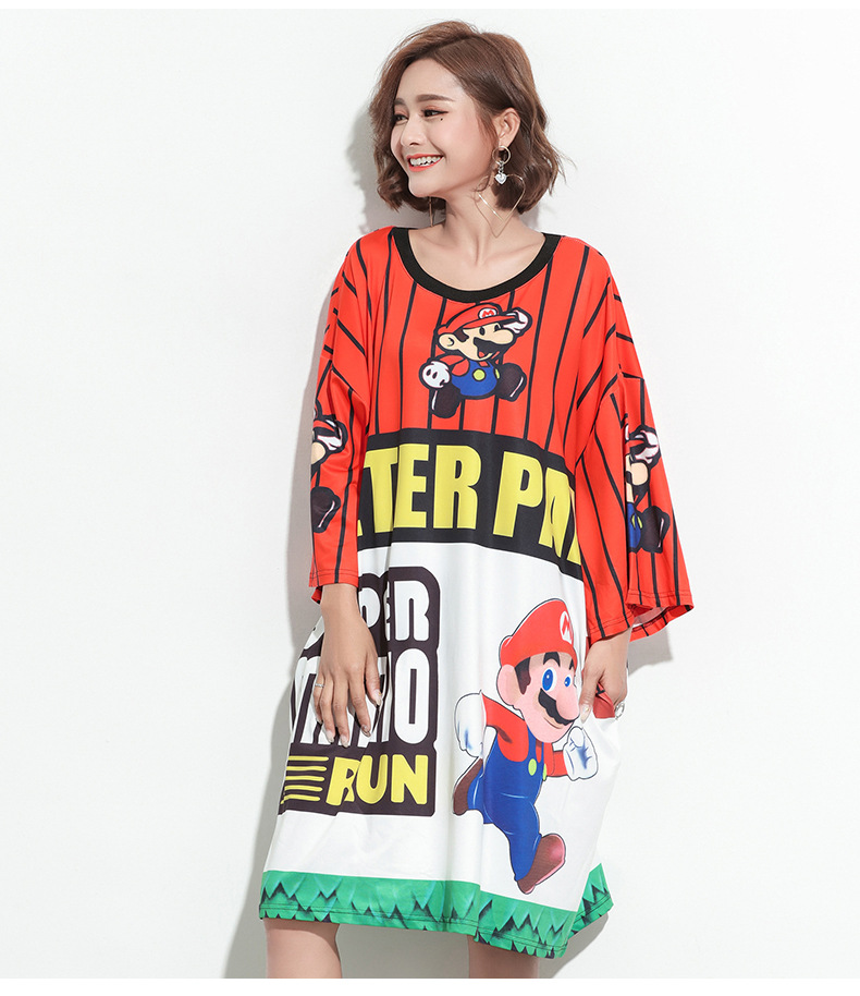 Comic strip characters stripe shirt