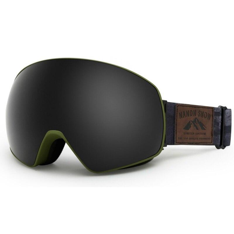 Hommes lunettes de Ski Sports de neige d'hiver lunettes de Snowboard avec Protection Anti-buée UV pour les femmes jeunesse motoneige Ski masque de patinage