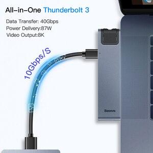 Image 3 - Baseus USB C 허브 멀티 USB 3.0 HDMI USB 허브 MacBook Pro USB 분배기 7 포트 Thunderbolt 3 허브 RJ45 듀얼 USB 유형 C 허브