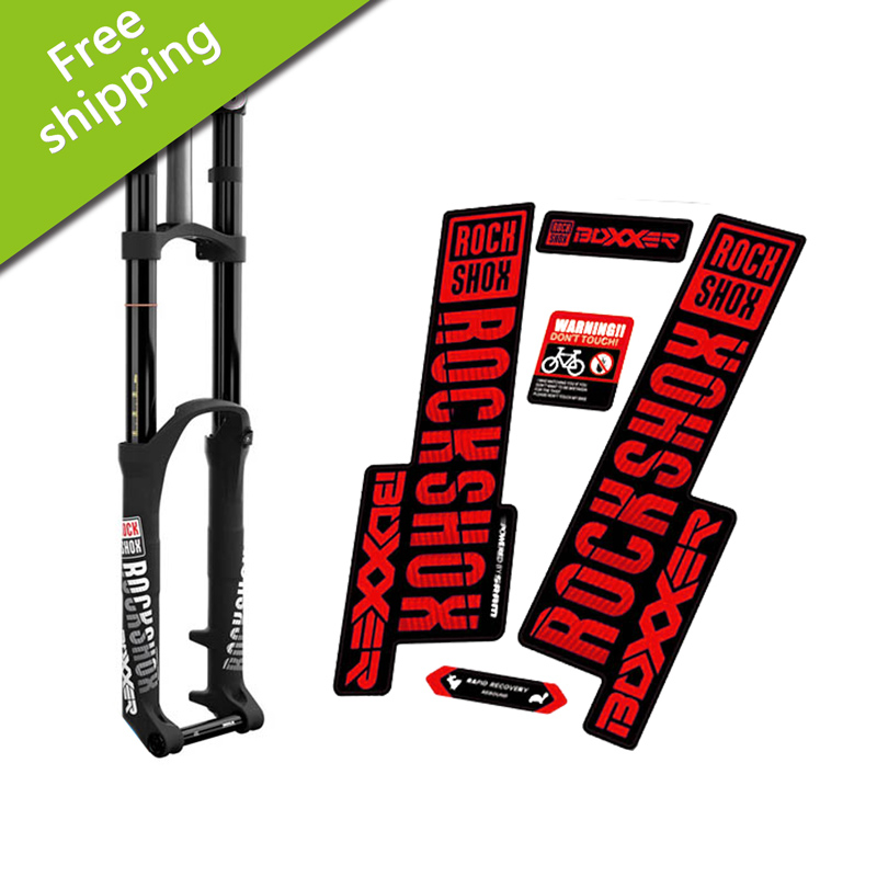 2018 BOXXER carbon Fork frame protection Stickers Mountain Bike bicycle Rock Shox BOXXER front fork racing vinyl dirt Decals