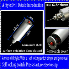 A style Miniature drill electric grinder Man playing mini jade polishing carving drilling multifunction hand drill