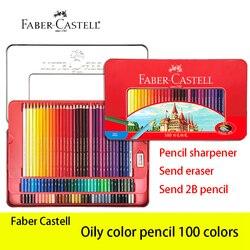Faber Castell 100 цветной масляный карандаш Lapis De Cor классический профессиональный художественный Рисунок и рисование карандаши для рисования това...
