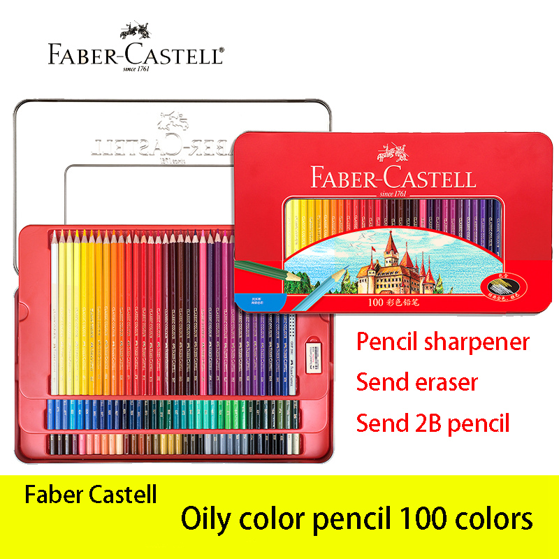 Faber Castell 100 Color Oily Pencil Lapis De Cor Classic Professionals Artist Painting&Drawing Sketch Pencils Art Supplies sketch art supplies faber castell 48 colored pencils lapis de cor professionals artist painting oil color pencil for drawing