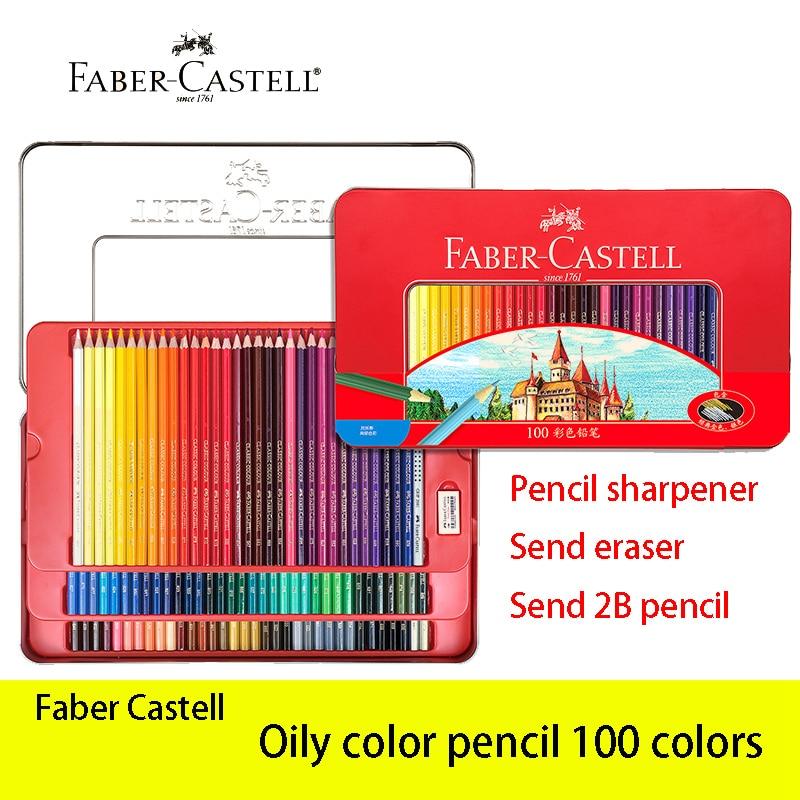 Faber Castell 100 Matita di Colore Grassa Lapis De Cor Classico Professionisti Artista Pittura e il Disegno Schizzo Matite Rifornimenti di Arte