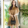 Original 2018 Brand New Cape Style Dress Summer Korean OL Elegant Pleated Vintage Ruffled Cloak Party