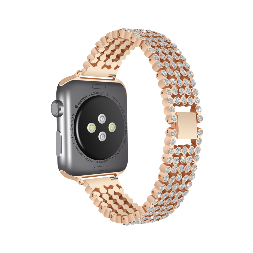 CRESTED Diamond Strap For Apple Watch band series 4 44mm 40mm Luxury Stylish Crystal iWatch 3 2 1 42mm/38mm wristband braceletCRESTED Diamond Strap For Apple Watch band series 4 44mm 40mm Luxury Stylish Crystal iWatch 3 2 1 42mm/38mm wristband bracelet