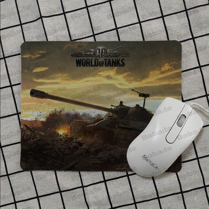 Babaite Personalized Cool Fashion World Of Tanks Keyboard Gaming MousePads Smooth Writing Pad Desktops Mate gaming mouse pad in Mouse Pads from Computer Office