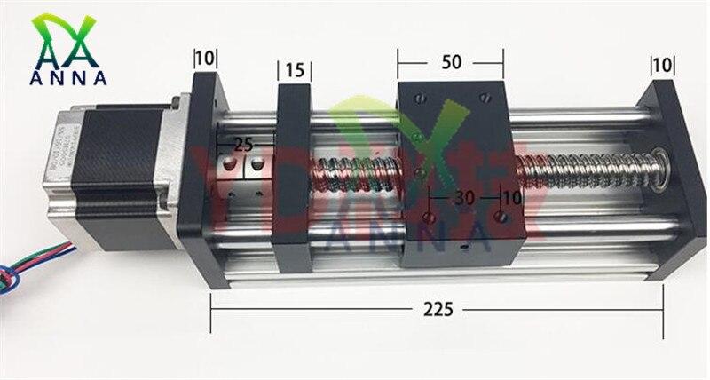 Haute précision GGP 450MM 500MM vis à billes 1204 1605 1610 Rail coulissant Guide linéaire Table mobile + 1Pc Nema 23 moteur 57 moteur pas à pas