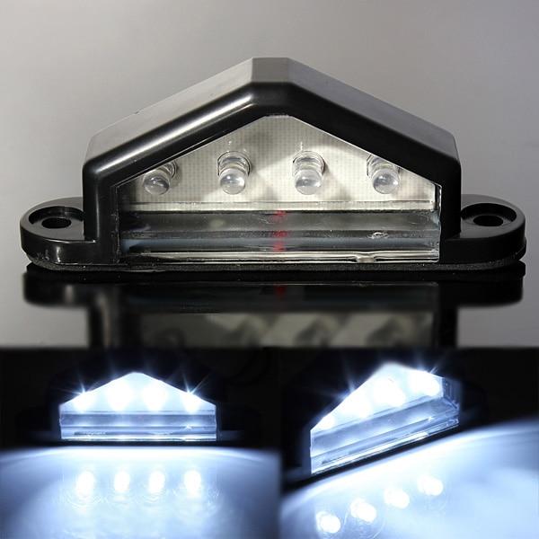 1pc Audew 10-30V 12V 24V LED Rear Truck Trailer Lamp License Number Plate Light License Plate Lamp Waterproof Triangle