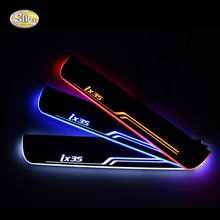 SNCN LED moving light scuff pedal for Hyundai IX35 2010-2015 car acrylic led door sill welcome pedal салонная лампа 006 ix35 led
