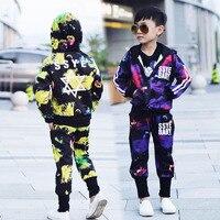 2016 sonbahar yeni erkek Kore versiyonu Yıldız desen ceket + casual pantolon suit çocuk spor seti sıcak satış