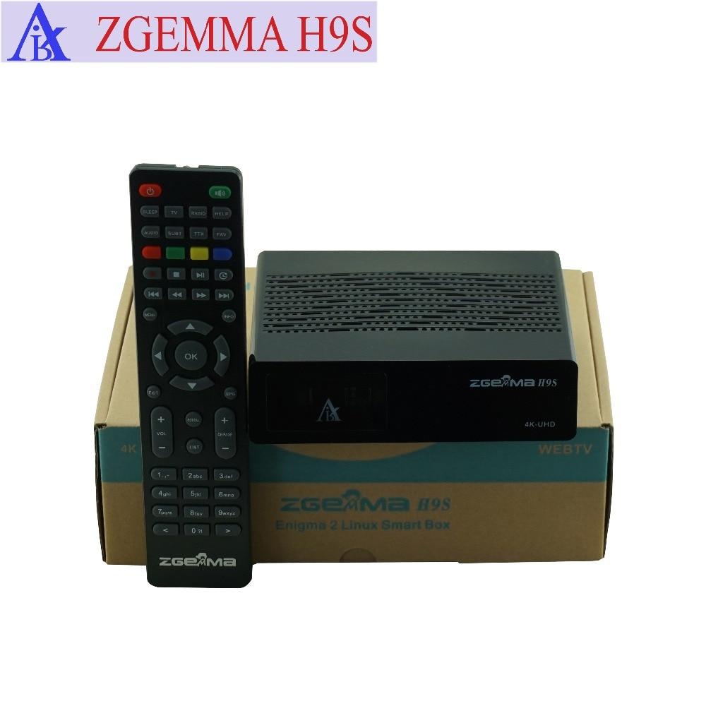 2pcs/lot  ZGEMMA H9S DVB-S2X Multistream 4K UHD Satellite Receiver Support Middleware Stalker