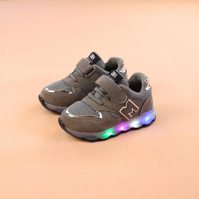 New Luminous Sneakers Basket Led Children Lighting Shoes
