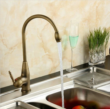 Kitchen Faucets Mixer Taps Antique Brass Finished Hot and Cold Deck Mounted with ceramic torneiras para banheiro crane AF1029