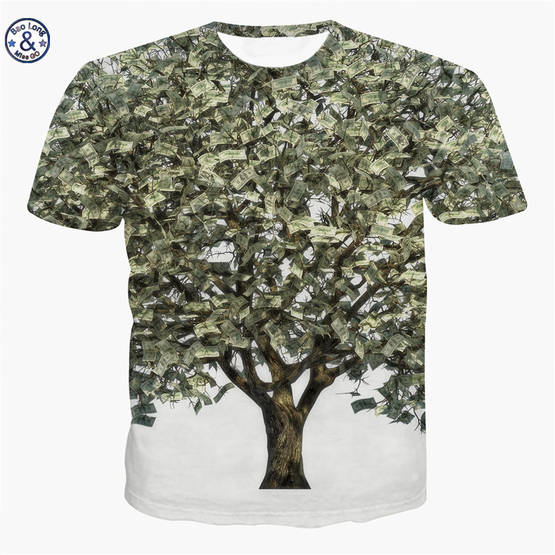 Mr baolong miss go summer men women 3d printing tree knot for 6 dollar shirts coupon code free shipping