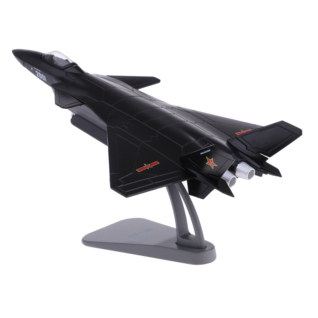 US $37 89 46% OFF|1:100 Scale Alloy Chinese Airforce J 20 Airplane Aircraft  Fighter Toy Model Diecast Plane Model Toy Home Decoration Gift-in Diecasts