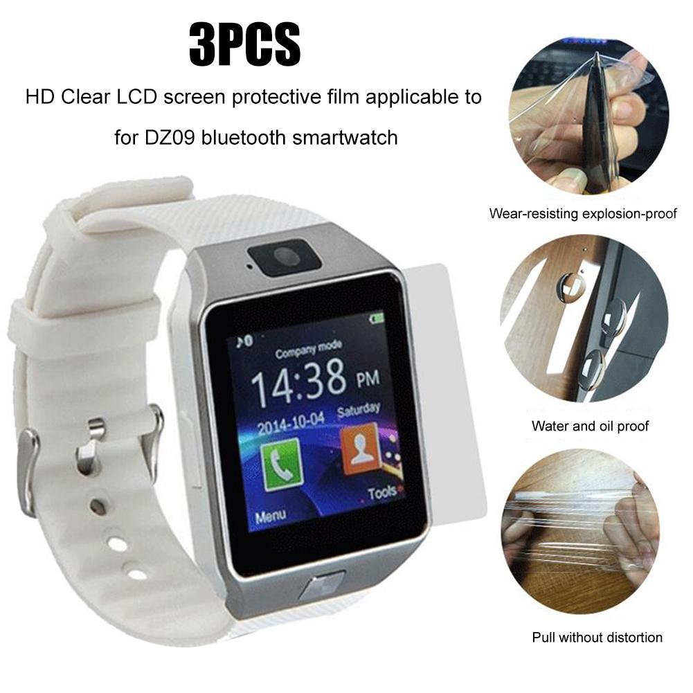 Lcd-Screen-Protector Smart-Watch Bluetooth DZ09 New-Arrival HD Clear for Films 3pcs/Set