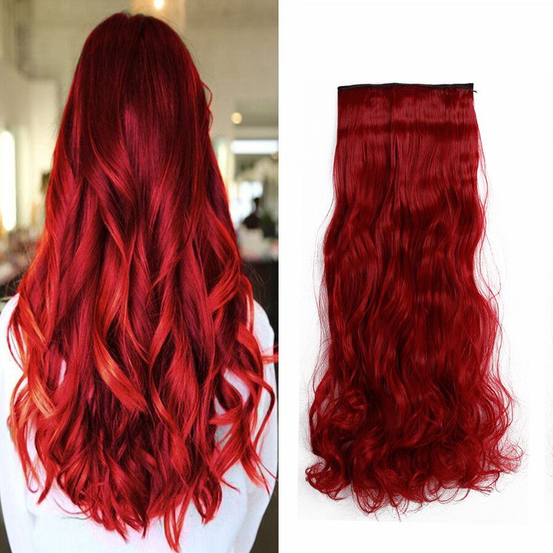 Stylish synthetic hair clip in hair extensions natural hair curly stylish synthetic hair clip in hair extensions natural hair curly one piece brown blonde red hair on aliexpress alibaba group pmusecretfo Gallery