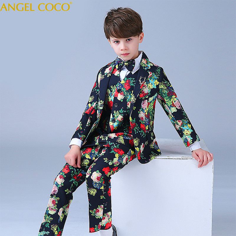 High Quality Fashion Gentleman Style Custom Boy Suit Tailor Suit Suit Jacket Boy 7 Piece Embroidered Sequins Costume Show Menino rolling stones rolling stones studio albums 1971 2016 20 lp