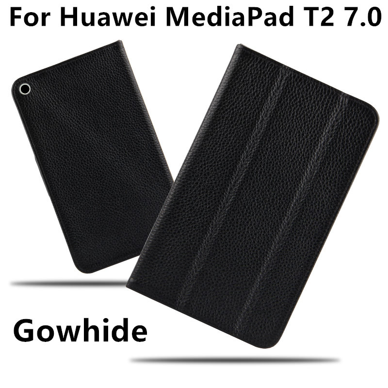 Case Cowhide For Huawei MediaPad T2 7 0 Protective Smart cover Genunine Leather Tablet For HUAWEI