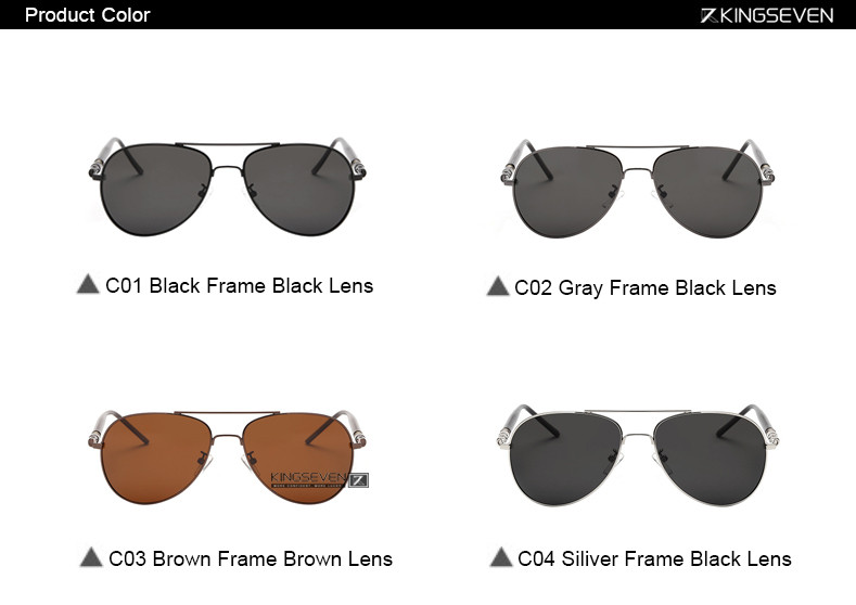 Hot! With 6 Accessories Kingseven Brand Designer Aviator Polarized Sunglasses Men Driving Sport Sun Glasses Women Oculos 3