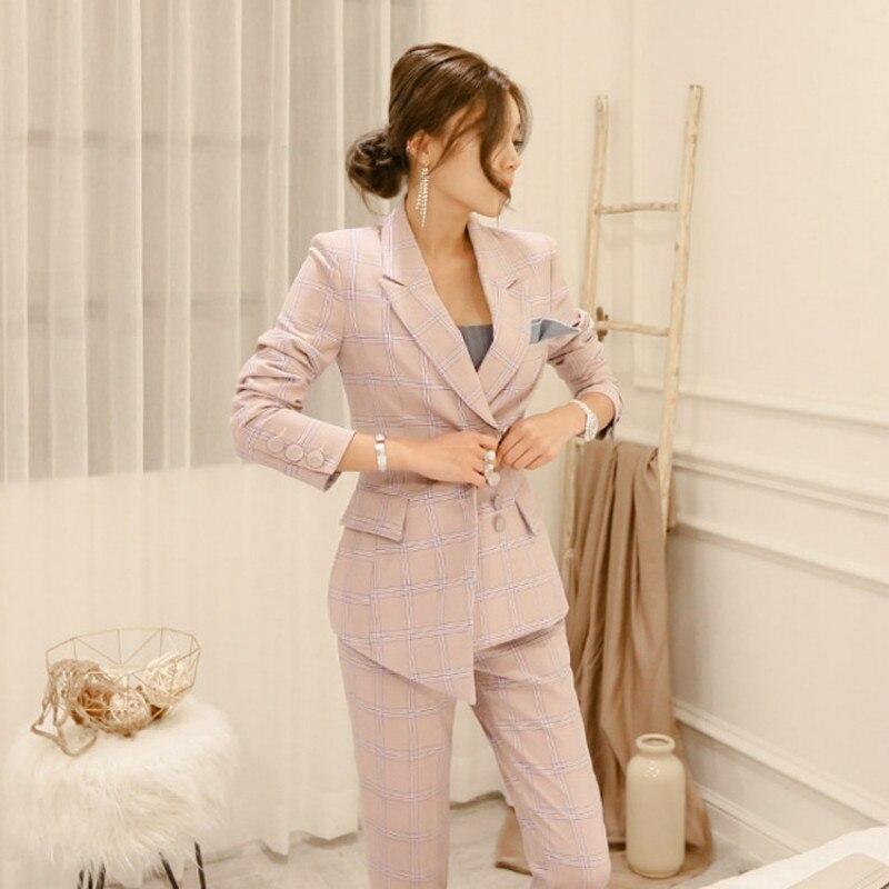 1a7293877 Traje Mujeres Sets Las Business chaqueta Damas Oficina Pantalones Con 1 Desgaste  Unidades Pantalones 2 Juego Formal De Para Womens qSvpEOwvR