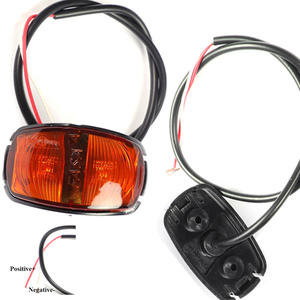 Image 3 - 1 piece Trailer LED  Side Marker Lights 24V 0.6W  Truck Rear Lamp Car accessory Lamp lorry Auto Signal lamps Caravan Indicator