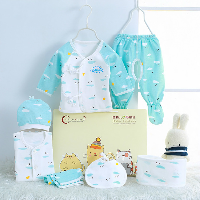 New Fashion (7pcs/set) Candy Newborn Baby 0-3M Clothing Set Gift Baby Boy/Girl Clothes 100% Cotton Grooming & Healthcare Kits