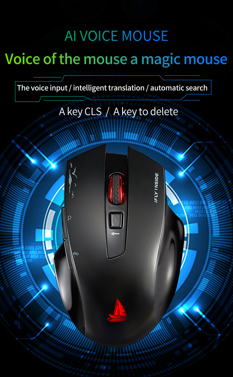 Cerreat Smart Voice Translation Mouse Portable Instant Intelligent speech translateTypingSearch 2.4G Wireless Mouse with Enter Key 24 Target Languages (1)