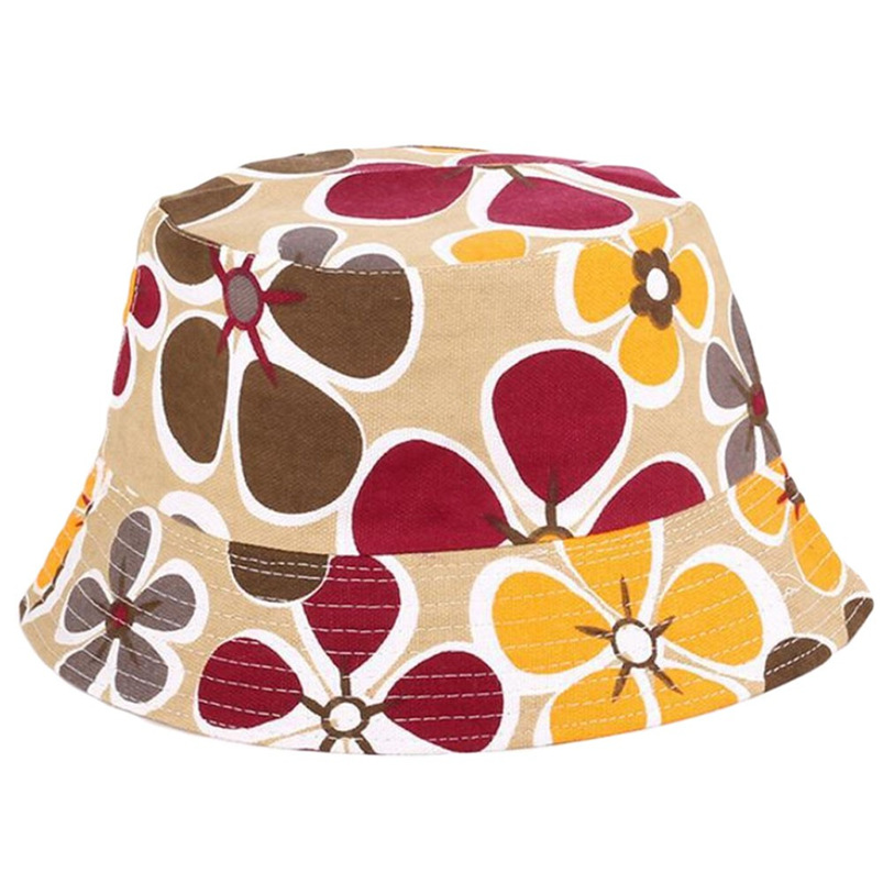 Men Women Bucket Hat Flower Print Cap 2018 Summer Colorful Flat Hat Fishing Boonie Bush Cap Outdoor Sunhat Wholesale #FM11 (6)