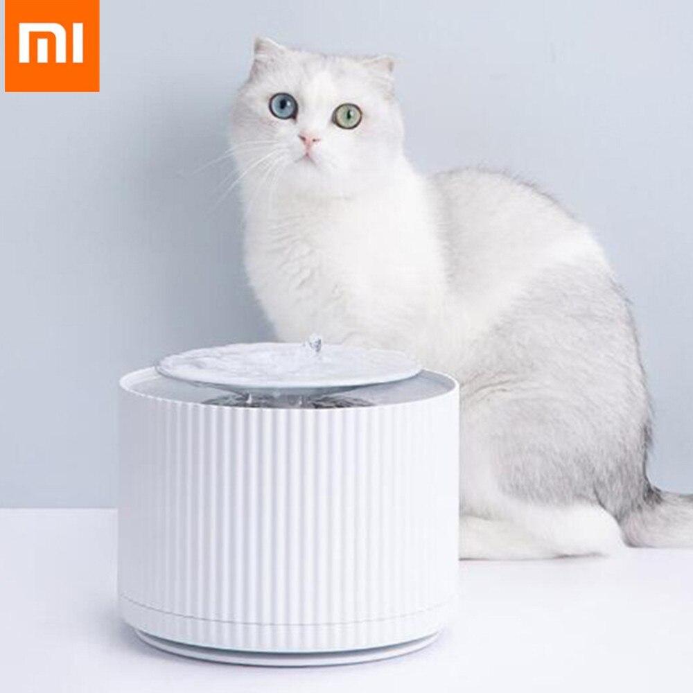 Xiaomi Mijia chat intelligent distributeur d'eau pour animaux de compagnie purificateur d'eau 5 couche filtre 360 degrés ouvert plateau à boire fontaine à boire pour animaux