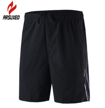 ARSUXEO Outdoor Summer Sports Shorts Training Fitness Riding Men S font b Football b font Fitness
