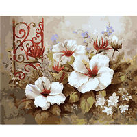 KISSMYTWINS DIY Painting Numbers Kit Oil Painting Frameless Picture Digital Lily