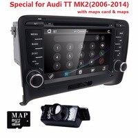 Сенсорный экран 2 Дин DVD GPS Радио стерео для Audi TT 2006 2014 3G GPS аудио dvd плеер руль TV Box RDS Bluetooth CD