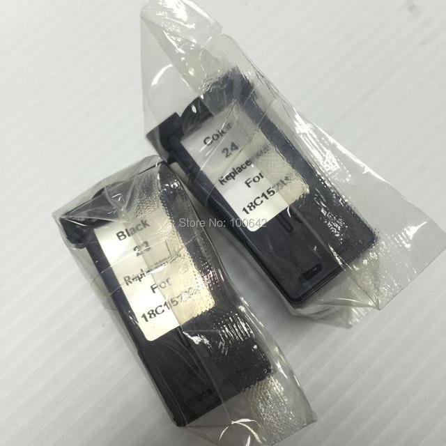 LM23 LM24 YOTAT cartucho de tinta Remanufactured para Lexmark 23 Impressora Lexmark 24X3530X3550X4530X4550X5070X5370 impressora Z1410 Z1420
