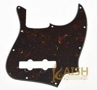 Jazz J Bass Pickguard Scrach Plate Dark Brown Tortoise For USA Mexican Style