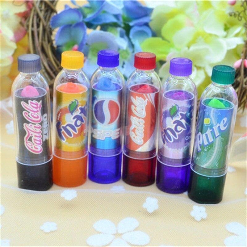 6Pcs With 6 Different Color Makeup Change Color Lip Balm Cola Sweet Cute Moisturizer Faint Scent Lip Balm Lipstick Brand Makeup 1