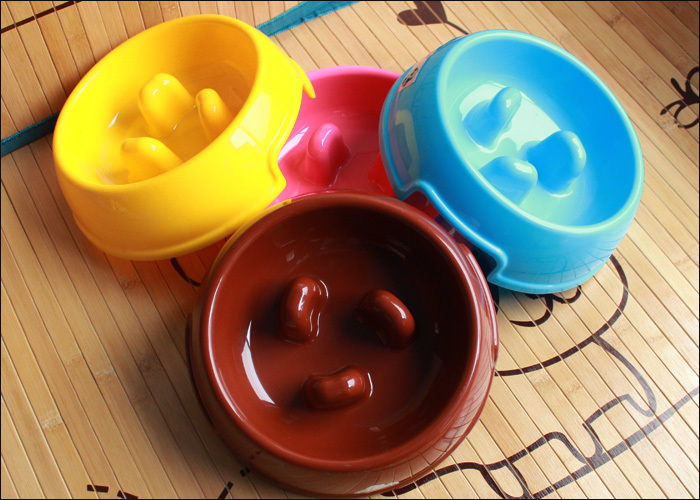 Hot sale High quality PP Universal non-slip pet food bowl Small dog prevent choking pet bowl image