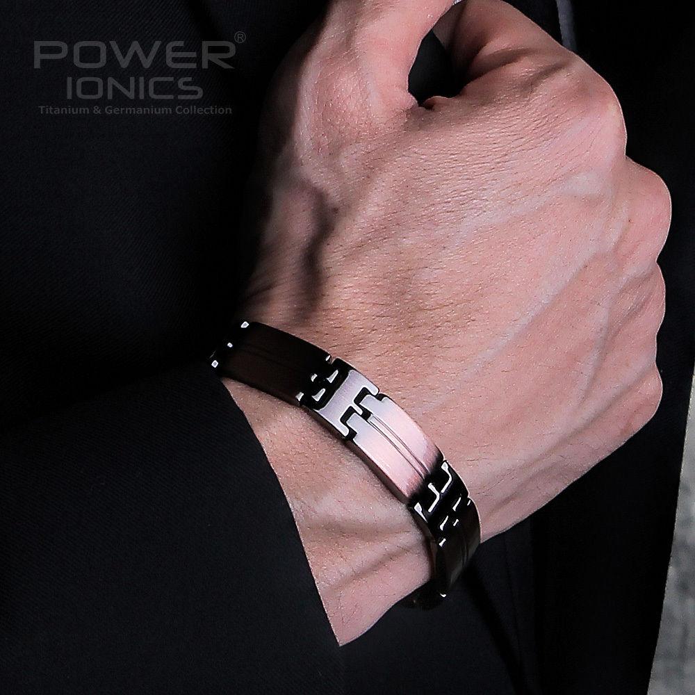 Power Ionics Retro Style 100 Titanium w NdFeB Neodymium Magnetic Bracelet