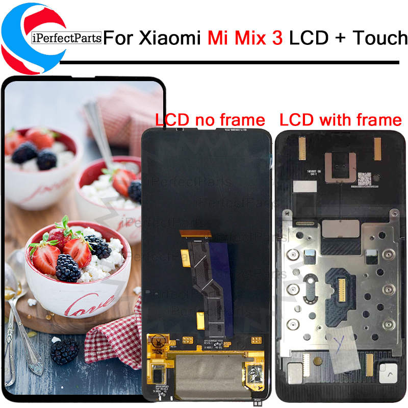 6 39 For Xiaomi Mi Mix 3 LCD Display Touch Screen Digitizer Assembly With Frame Replacement