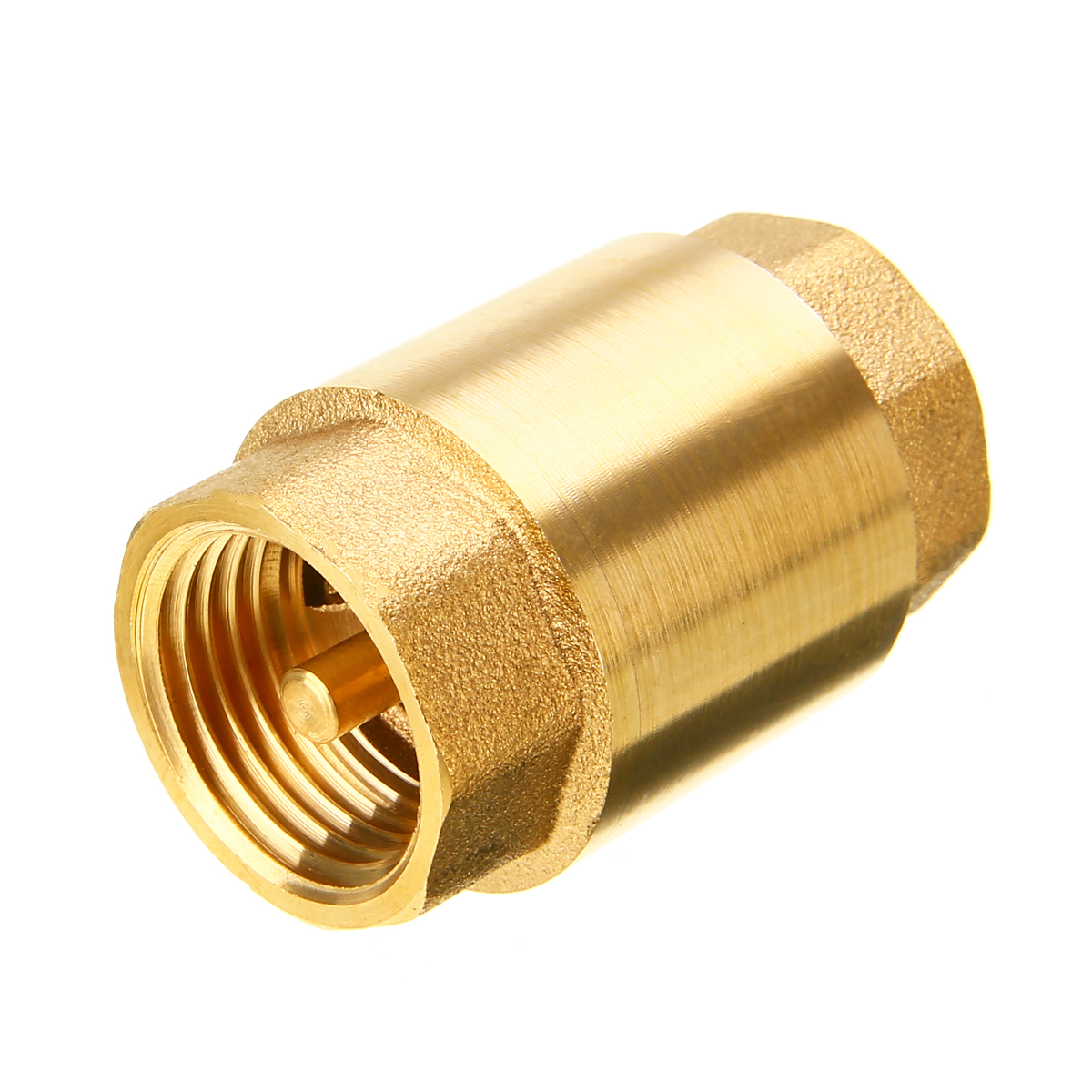 1pc New 1/2'' NPT Brass Thread In-Line Spring Check Valve 200WOG